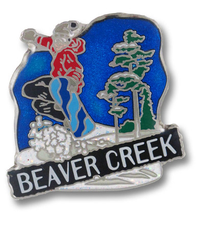 Beaver Creek Jumping Ski Resort Pin