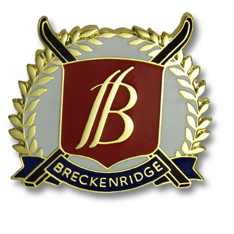 Breckenridge Cross Skis Ski Resort Pin
