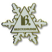 Breckenridge Snowflake Ski Resort Pin