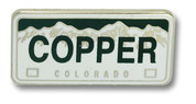 Copper Mountain Plate Ski Resort Pin