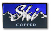 Copper Mountain Range Ski Resort Pin