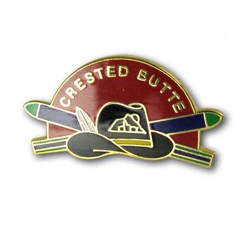 Crested Butte Hat Ski Resort Pin