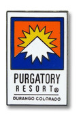 Purgatory Logo Ski Resort Pin