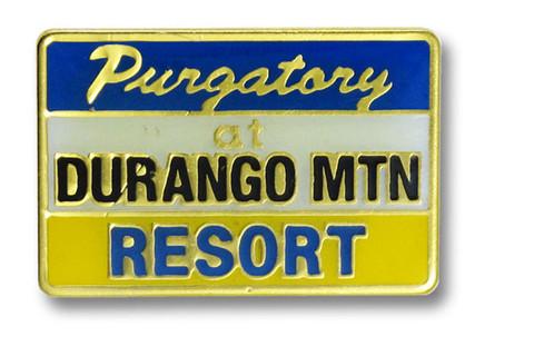 Purgatory Rectangular Ski Resort Pin