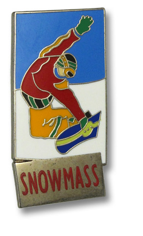 Snowmass Snowboarder Ski Resort Pin
