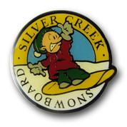 Silver Creek Cartoon Ski Resort Pin