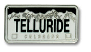 Telluride Plate Ski Resort Pin