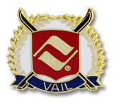 Vail Cross Skis Ski Resort Pin