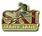 "Mary Jane ""Ski"" Ski Resort Pin"