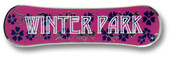 Winter Park Pink Board Ski Resort Pin