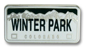 Winter Park Plate Ski Resort Pin