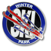 Winter Park Round Ski Resort Pin