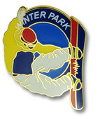 Winter Park Snowboarder Ski Resort Pin