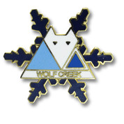 Wolf Creek Blue Flake Ski Resort Pin
