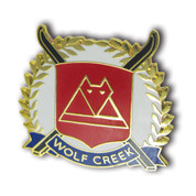 Wolf Creek Cross Skis Ski Resort Pin