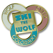 Wolf Creek Three Rings Ski Resort Pin