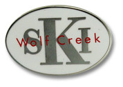 Wolf Creek White Oval Ski Resort Pin