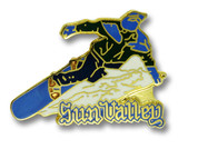 Sun Valley Snowboarder Ski Resort Pin