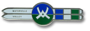 Waterville Double Skis Ski Resort Pin