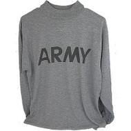 Moisture Wicking Long Sleeve Army PT Shirt IPFU - Reflective Material