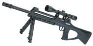 ASG TAC 4.5 CO2 Powered 4.5mm Airgun (.177 cal NOT AIRSOFT) Sniper Rifle with Bipod and Integrated Laser - Black