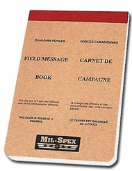 Canadian Military Issue Mil-Spex Field Message Pad