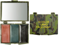 3-Color Camouflage Face Paint Compact - Woodland