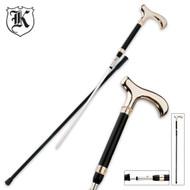 Gent Sword Cane Gold & Black