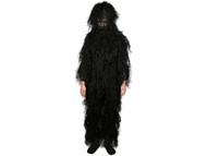 Adventure Gear Full Body 3-Piece Concealment Ghillie Suit Set for Children - Black (Size: Large / X-Large)
