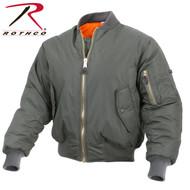 Rothco Enhanced Nylon MA-1 Flight Jacket - Sage