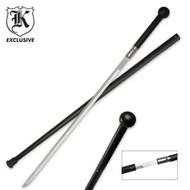 Black Traveler Wood Handle Sword Cane