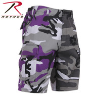 Rothco Two-Tone Camo BDU Short - Ultra Violet Purple/City Camo