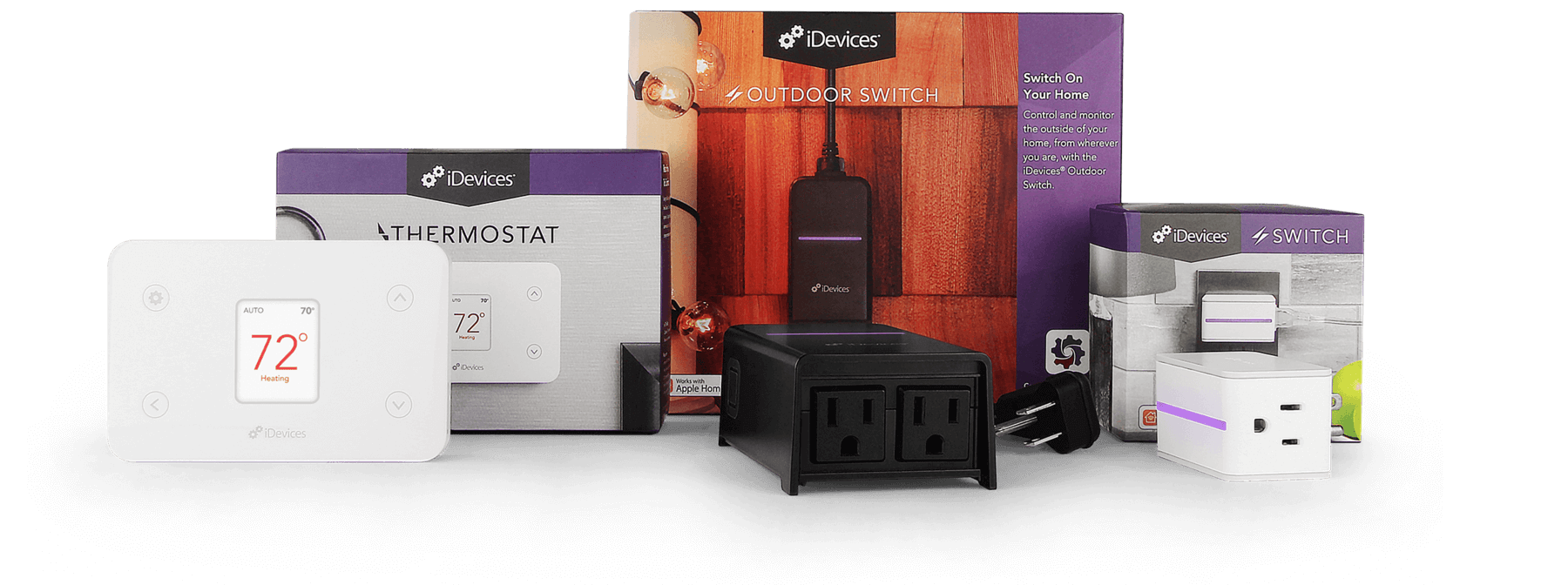 Transformation Pack, switch, outdoor switch, thermostat, smart house, home automation system, Siri Voice control, Alexa voice commands, home automation packages
