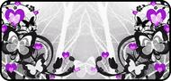 Flutter Hearts Purple