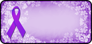 Ribbon Floral Purple