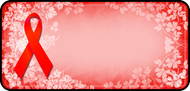 Ribbon Floral Red
