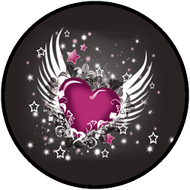 Winged Heart Pink BR