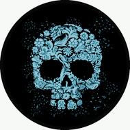 Floral Skull Blue BR