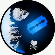 Side Skulls Blue BR