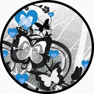 Flutter Hearts Blue BR