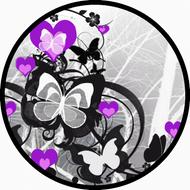 Flutter Hearts Purple BR