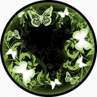 Flutterby Black & Green BR