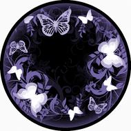 Flutterby Black & Purple BR