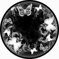 Flutterby Black & White BR