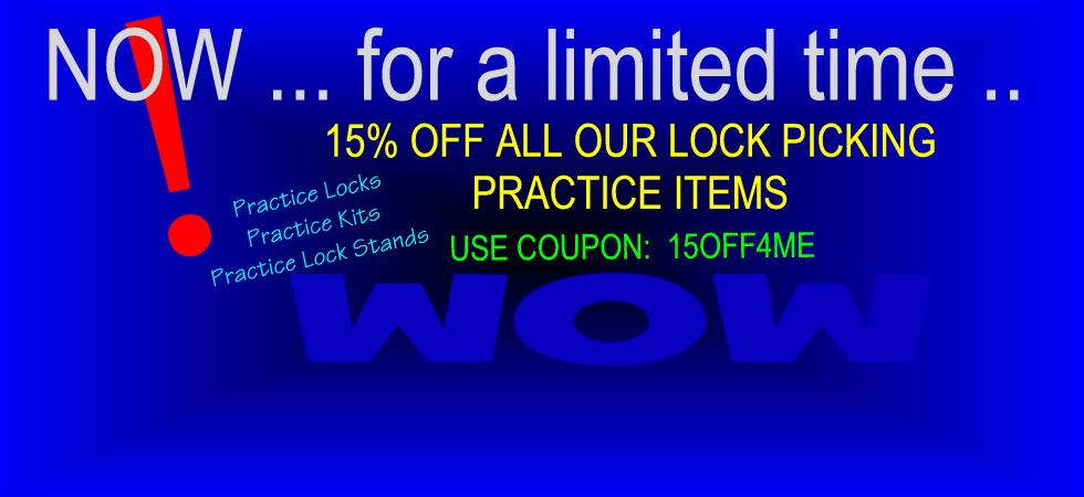 15% Off Practice Kits, Etc