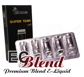 Authentic Titanium Super Tank Coils at ECBlend E-Liquid Flavors