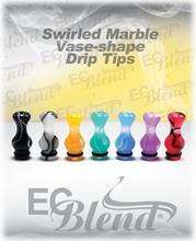 Acrylic Swirl Marbled Drip Tip