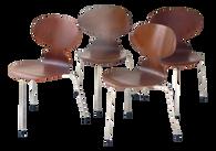 Arne Jacobsen Six Ant Chairs, Model 3101 for Fritz Hansen, 1950s