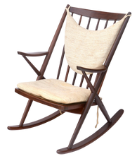 1960s Walnut Rocking Chair by Frank Reenskaug for Bramin Mobler,  Denmark