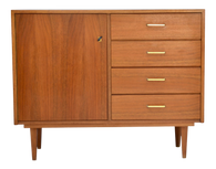 1960s Mid Century Modern Walnut Cabinet SOLD